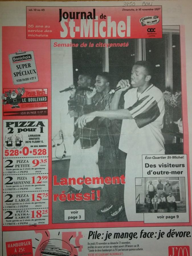 16 nov.1997 _ Journal StMichel ( épidémie) 2