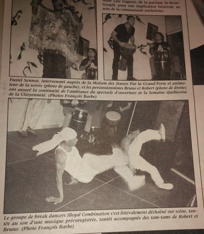 Illegal b-boy (15 nov.1998_ Journal St-Michel)