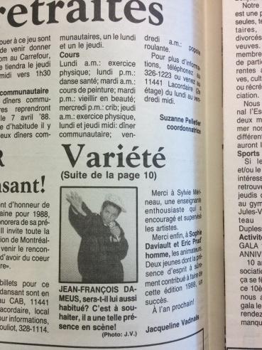 Jean-François Daméus (rappeur de montréal-nord) 1988