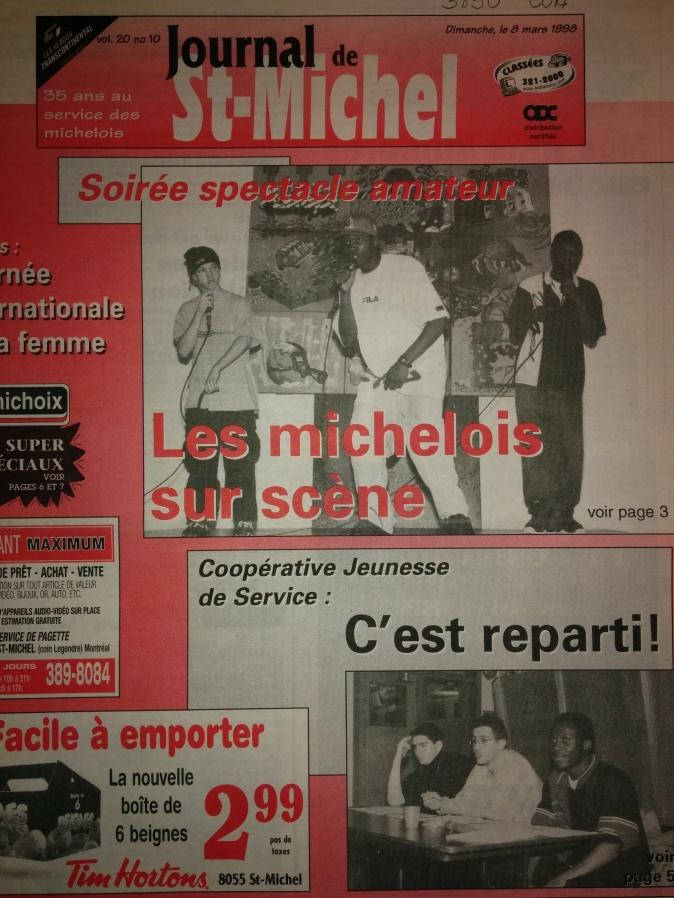 La Réplik Tacktik ( 8 mars 1998_ Journal de St-Michel)