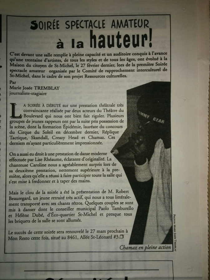 Soirée spectacle Amateur St-Mich _5mars 1998