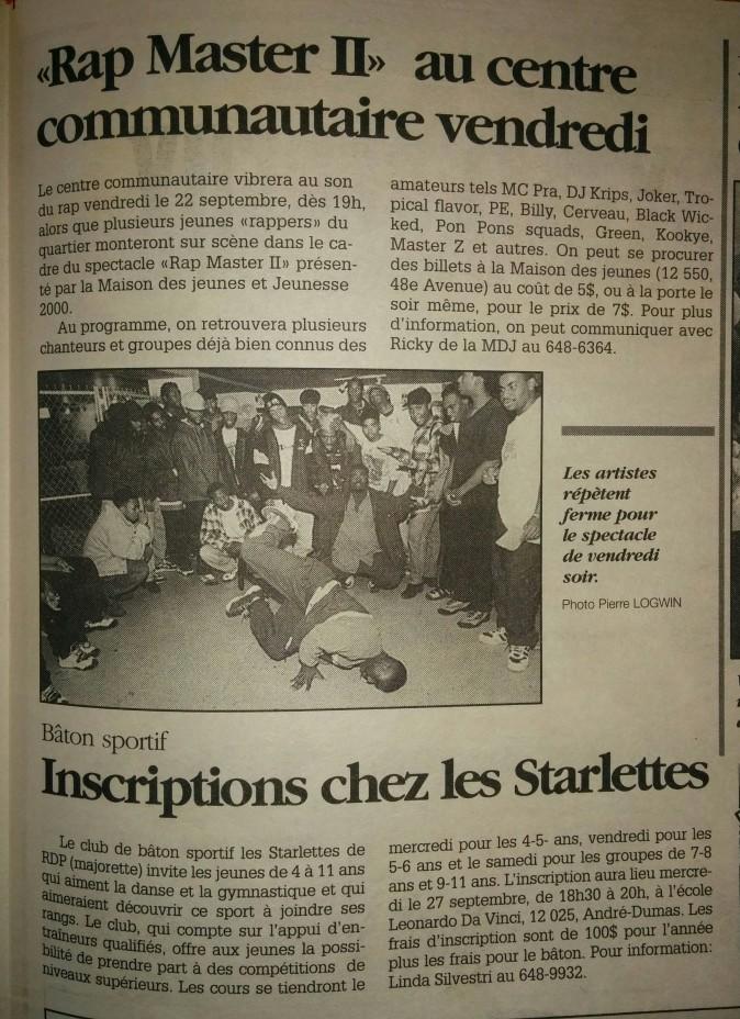 Rap Master show hip-hop à RDP en 1995 pt.2- MODIF