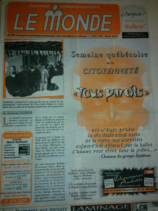 pidémie _Journal le Monde 1997