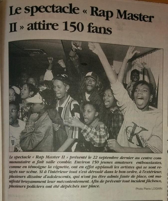 Rap Master show hip-hop à RDP en 1995 pt.1 - MODIF