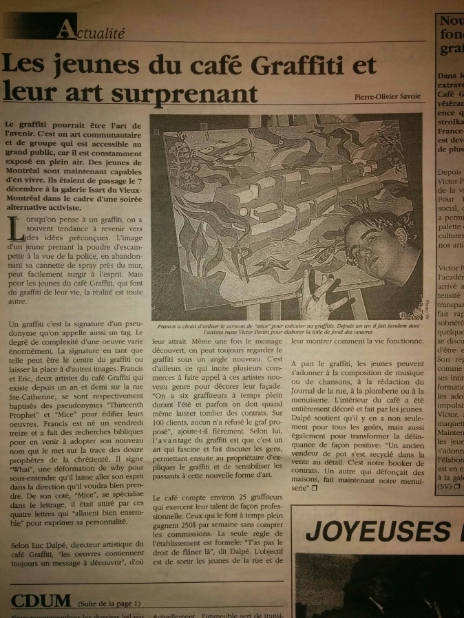 Café Graffiti 1997-1998