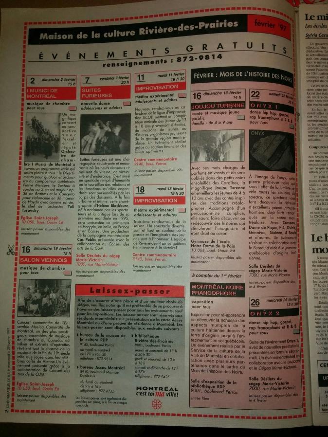Soirée Onyx_ Promo _ fév.1997