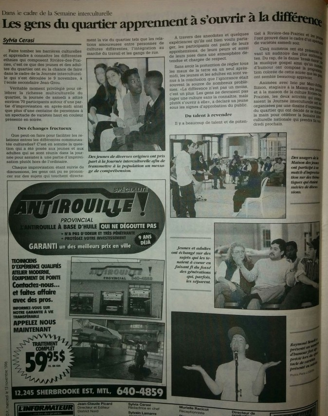 Promo discussion sur art RAP et culture RDP 1995&1996