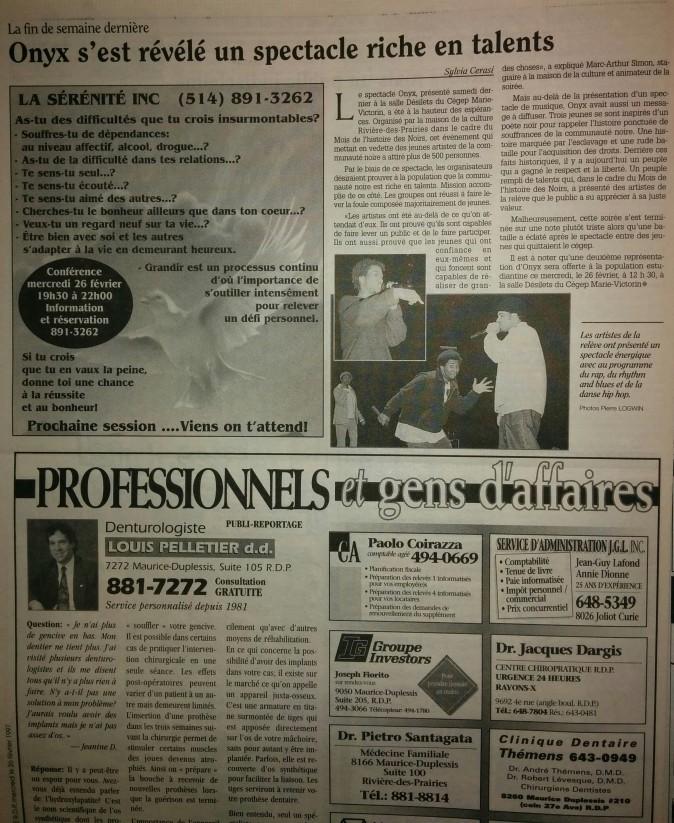 ONYX pt.1 & pt.2 Critique de presse